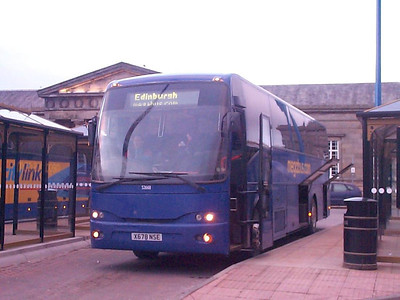 Stagecoach Volvo B10M-62 52268 (X678NSE) on a Megabus service at the Bus Station