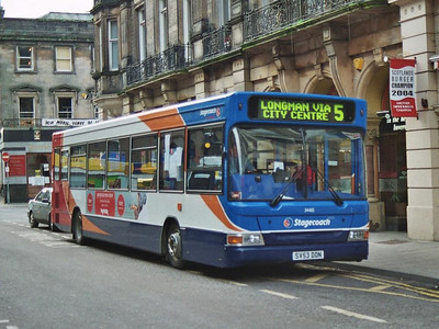 Stagecoach Transbus Dart 34485 (SV53DDN) on Queensgate, 19th February 2005.