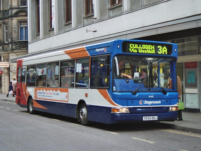 Stagecoach Transbus Dart 34482 (SV53DDJ) on Queensgate. This was the second 34482, the first being one of a batch for Carlisle which was renumbered very shortly after delivery.