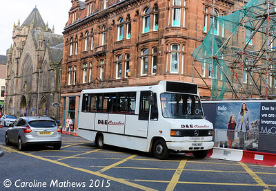 D & E Coaches P543MSF, Academy Street, Inverness, 2nd October 2015