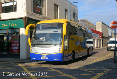 D & E Coaches S9YST, Margaret Street, Inverness, 2nd October 2015