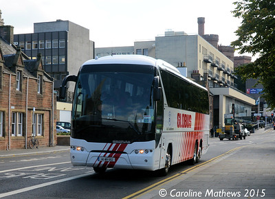 Enfield Coaches 141-WH-1192, Bank Street, Inverness, 2nd October 2015