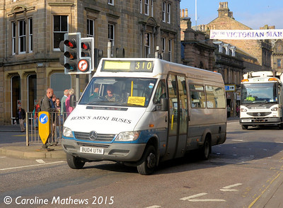 Ross's Mini Buses BU04UTN, Academy Street, Inverness, 2nd October 2015