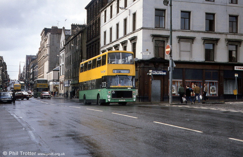 Glasgow A23 (CSU 231X) a Volvo Ailsa B55-10 with Alexander H44/35F new in 1981. Photographed in April 1983.
