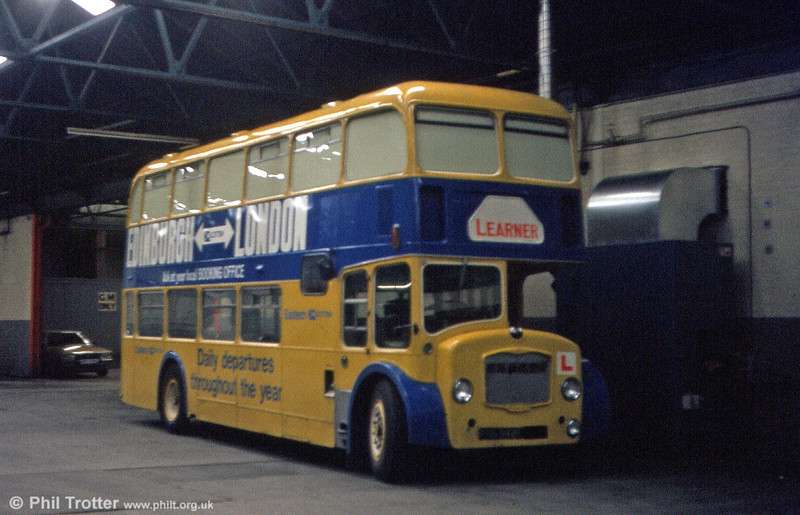 There follows a series of four pictures of Eastern Scottish Bristols, converted for ancilliary use after withdrawal from service. This FLF6G SHN 252F, originally with United Auto, became a training bus.