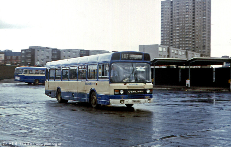 A very battered looking Midland Scottish Leyland National 2/B52F 18 (DMS 18V) - photographed when only three years old!
