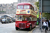 Seen awaiting sightseeing trippers at the Waverley Bridge terminus, Edinburgh is Mac Tours 10/ERM281 (VLT 281) an AEC Routemaster/Park Royal PO39/32RD on 17th October 2010.