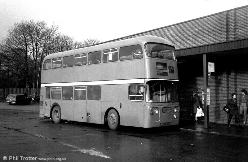 Formerly Edinburgh 815 (EWS 815D), this Leyland Atlantean/Alexander H43/31F saw later service with Blue Bus, Rugeley.