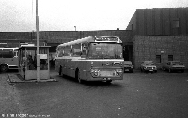 MWG 486F was a rare Albion Viking/Alexander DP40F seen with Blue Bus, Rugeley but new to Alexander (Midland) as their MNV70.