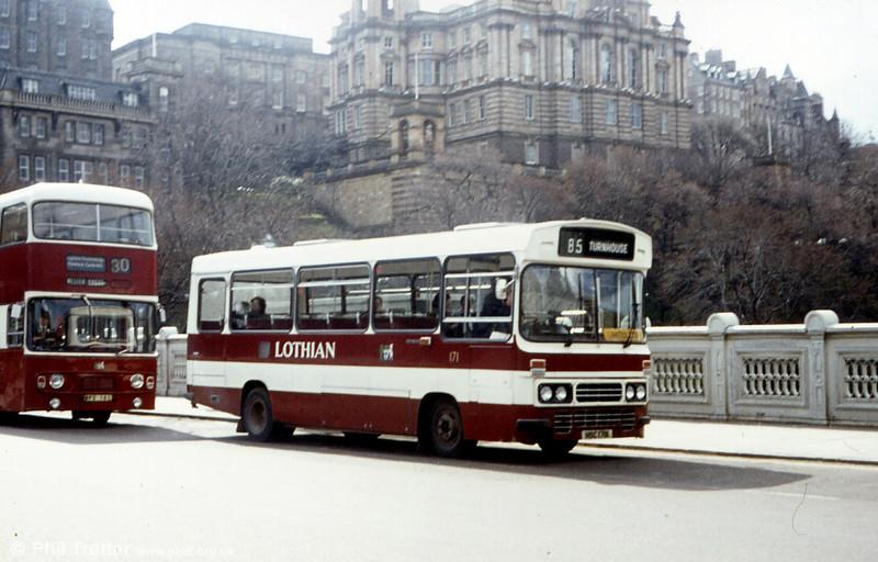 Lothian (Edinburgh) 171 (HSC 171X), an unusual Leyland Cub/Duple B31F.