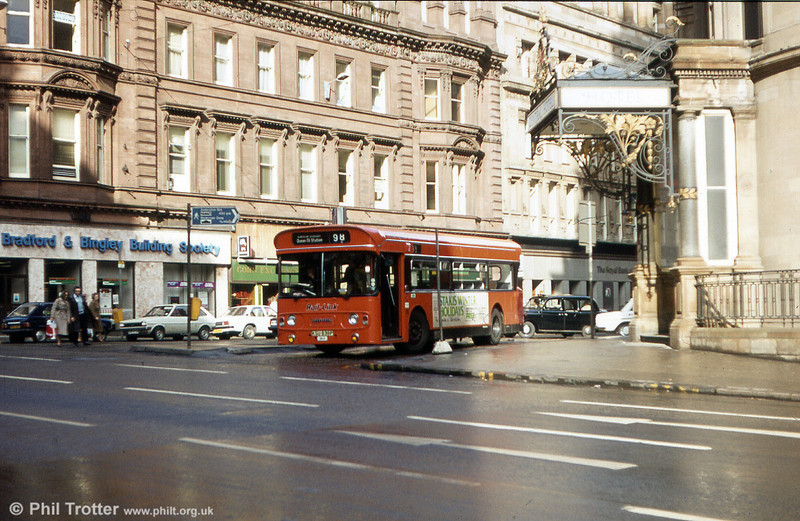 Greater Glasgow SA3 (KSU 838P) a single deck Leyland Atlantean which was originally double deck vehicle (H45/31F) LA962.