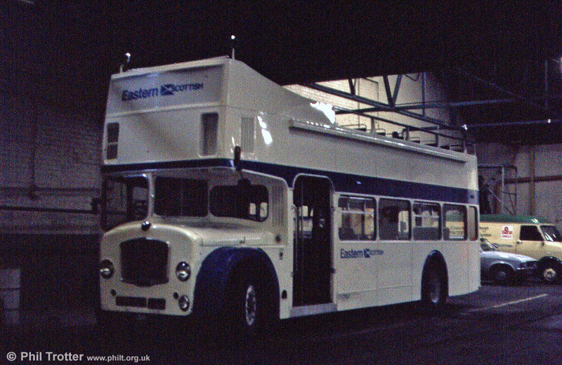 And finally... another open top conversion. This is Eastern Scottish Bristol FLF6G OT2 (KPM 91E), formerly Brighton, Hove & District 91 with ECW H38/32F bodywork.