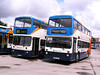 Stagecoach 14347 (H347SWA) & 16474 (K104JWJ), Scunthorpe, 12th July 2008