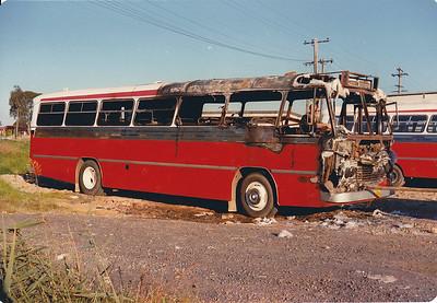 m/o 4966 BEDFORD BRP2/CCMC (3/76) (ex Evans m/o 402)  Photo Location: Katen & Heath Depot. (NOTE: To Bosnjak 11/76 with Evans Sale, then 1980 to Katen & Heath, Fairfield NSW (Silverline) as m/o 4966. Damaged by Fire, Rebuilt & Re-reg m/o 7071