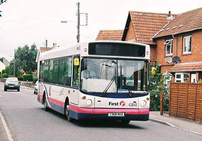 First 42843 (T368NUA), Street, Somerset, 14th September 2010