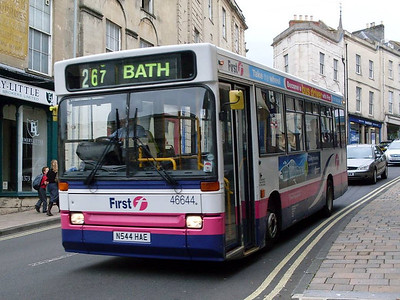 First 46644 (N544RAE), Frome, Somerset, 13th September 2010