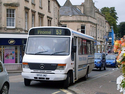 Frome Minibuses SF53JNZ, Frome, Somerset, 13th September 2010