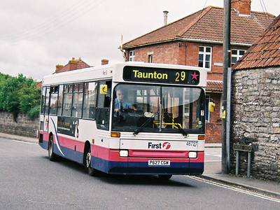 First 46727 (P627CGM), Street, Somerset, 14th September 2010