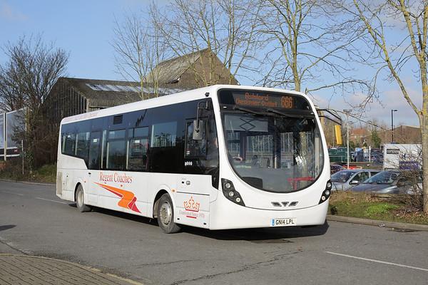 Regent Coaches GN14LPL, Ashford 6/2/2015