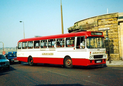 Aldhams Coaches were operating this Alexander bodied Leyland Leopard, HCS806N, on 26th May 1990
