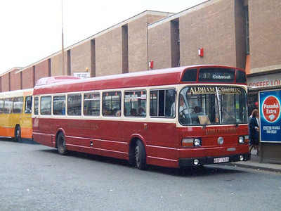 By 1991 Aldhams had joined the Leyland National club! BSF769S is seen on Midland Street, 25th May 1991