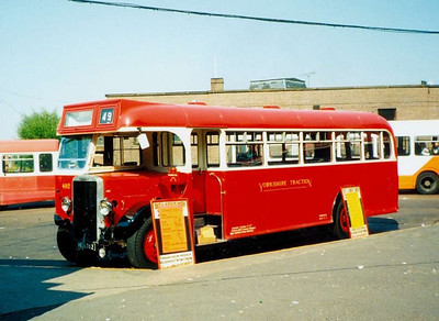 Parked up in the Bus Station on 26th May 1990 was 492 (HE6762), a 1935 Leyland Tiger TS7 witth a 1950 Weymann body.