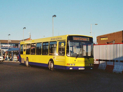 Barnsley & District 246 (T546AUA) is another of the ex Keighley & District Wright bodied Volvo B10BLEs
