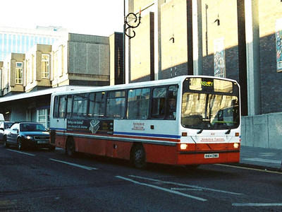 Also in The Shambles is Tracky 414 (K414EWA), a Wright bodied Dennis Dart.