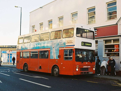 Back in 1986 Tracky bought some Mark II Metrobuses. 707 (D707NKY) was one of these, still in service 19 years later in Eldon Street.