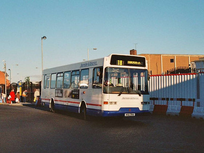 Barnsley & District 169 (M511TRA), an East Lancs bodied Volvo B6-50, in the Bus Station.