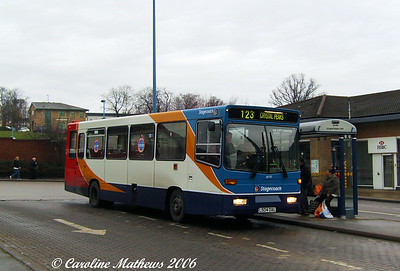 Stagecach 30197 (L504OAL) is one of the many Volvo B6/Alexander which came with the Yorkshire Terrier fleet. This one originated with Nottingham