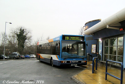 And similar vehicle 35015 (YN51VJA) in Dinnington Bus Station, 28th December 2006.