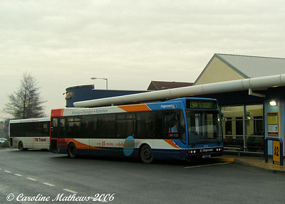 Stagecoach bought a batch of Optare Excels for route 19 (Worksop to Rotherham). This is 35010 (YN51VHV)