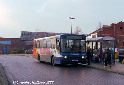 First photo in Mexborough was of Stagecoach Alexander bodied Volvo B10M 20751 (K751DAO), originally with Cumberland