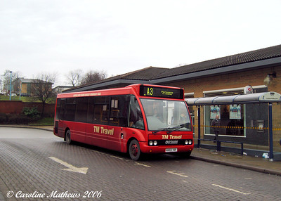 A tram took me to Crystal Peaks, from where I took a bus to Dinnington. A few shots were taken whilst I waited. First was TM Optare Solo MX03YDF, about to depart for Rotherham and Parkgate