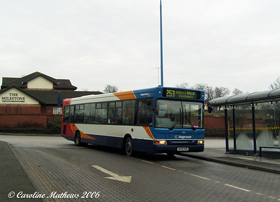 Stagecoach Dart SLF/Plaxton 33839 (X839HHE) was based at Chesterfield depot which operated service 253 at that time. Here it is arriving on stand at Crystal Peaks, ready for it's next journey