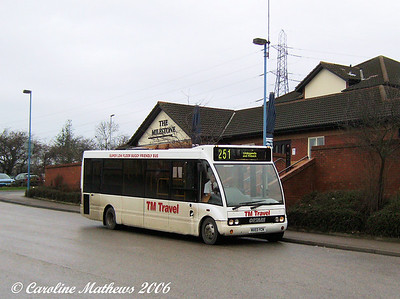 TM Travel Solo MX03YCN which took me to Dinnington, I was a bit upset at getting this bus as the previous day the service had been operated by a Plaxton Primo, a type of vehicle I had never ridden at that time.