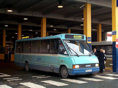 Leon 136 (M926TYG), an Optare Metrorider in the South Bus Station, 27th December 2002