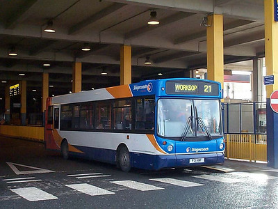 Looking smart in the then new Stagecoach livery is East Midland 855 (P31HMF), an Alexander bodied Dennis Dart SLF, originally Stagecoach London SLD2