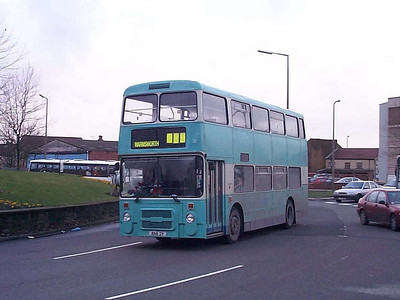Leon Olympian 163 (ANA2Y) again, this time on the roundabout adjacent to the Bus Station
