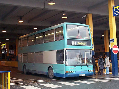 Leon 158 (W599GCW) is one of a pair of East Lancs bodied Dennis Tridents dating from 1999