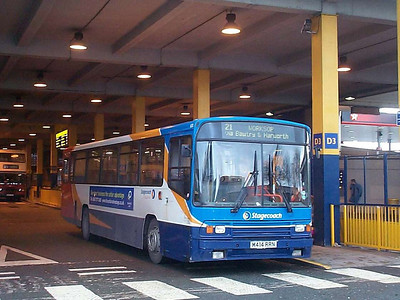 East Midland Alexander bodied Volvo B10M 600 (M414RRN) awaiting departure from the South Bus Station