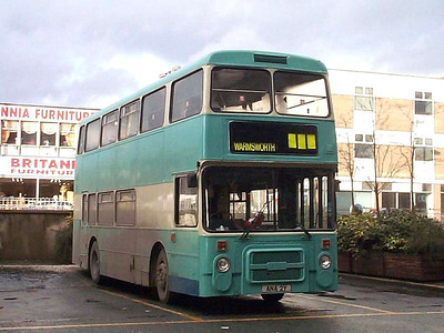 Laying over in the South Bus Station is ex Greater Manchester Olympian ANA2Y, now 163 in the Leon fleet