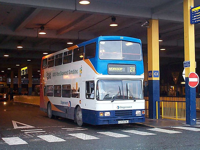 Wearing Stagecoach's new livery is East Midland Alexander bodied Leyland Olympian 359 (K359DWJ)