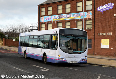 First 69020 (SF55UAN), Bridge Street, Rotherham, 29th December 2018