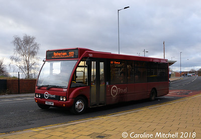 TM Travel 1181 (YN56OWP), Bridge Street, Rotherham, 29th December 2018