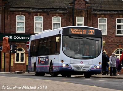 First 69033 (SF55UBT), Bridge Street, Rotherham, 29th December 2018