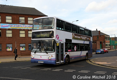 First 31129 (YU52VYE), Greasbrough Road, Rotherham, 29th December 2018