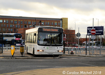 Powells 27 (YJ55KZT), Forge Island Bus Station, Rotherham, 29th December 2018