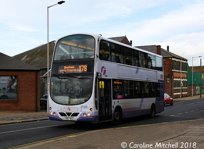 First 37529 (YN58ETY), Bridge Street, Rotherham, 29th December 2018